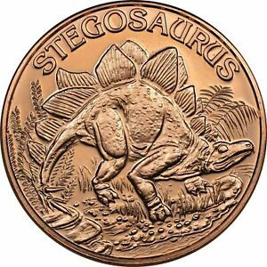 Lot of 20 - 1 oz Copper Round - Stegosaurus
