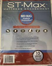 New St-Max King Mattress Protector Zippered Encasement Bed Bug Barrier 78�x 80�