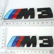 1pcs Black ///M3 Metal Body Rear Trunk Lid Stickers Badge Emblem For BMW M3