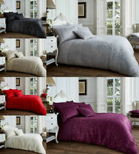 Jacquard Vincenza Duvet Cover Set With Pillowcase Poly cotton Bedding All Size