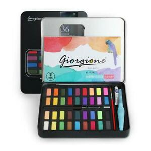 36 Watercolour Paint Set With Brush Painting Water Colour Art Artist Kits