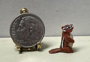 Vintage Artisan PHILLIPS '92 Adorable Chipmunk Dollhouse Miniature 1:12