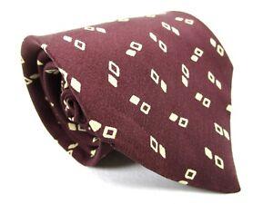 Brooks Brothers Makers Silk Tie Brown With Beige Checks Necktie 59 x 3.75 New