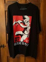 Men's Official Naruto Shippuden Kakashi Hatake Team07 3XL Black T-Shirt