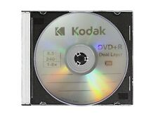 5 KODAK 8X Blank DVD+R DL Dual Double Layer Logo Branded 8.5 GB Media Disc