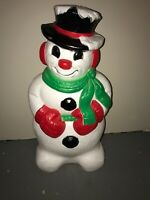 Blow Mold Derby Snowman Grand Venture! Outdoor Christmas Lighted! 30""
