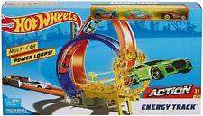 Mattel Hot Wheels ACTION Energy Track Set ink 3 Fahrzeugen Rennbahn NEU!
