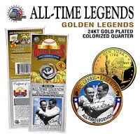 Lou Gehrig & Babe Ruth 24KT Oro Signatured New York Stato Quarter! Leggende