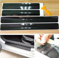 5D Carbon Fiber Car Scuff Plate Door Sill Cover Panel Step Protector Vinyl Black