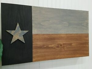 "39"" Texas Flag Gun Concealment Cabinet Secret Hidden Storage Furniture Rustic"