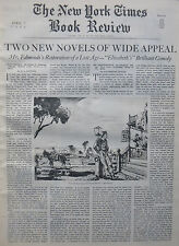 CHAD HANNA - MR SKEFFINGTON  EDMONDS ELIZABETH 1940 APRIL 7 NY Times Book Review