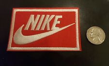 """Nike RED iron on PATCH -  patches new  Appx 3"""" x 2"""" Nice"""