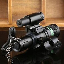 7W Tactical Zoom CREE LED Flashlight Torch Red Dot Laser Sight Rifle Scope NEW