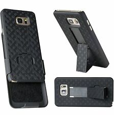 WizGear Shell Holster Combo Case for Samsung Galaxy Note 5 with Kickstand & Belt