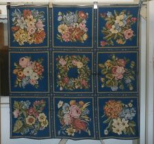 """FRENCH FLORAL ROSE THICK WOVEN TAPESTRY WALL HANGING - 52"""" x 52"""" Tablecloth"""