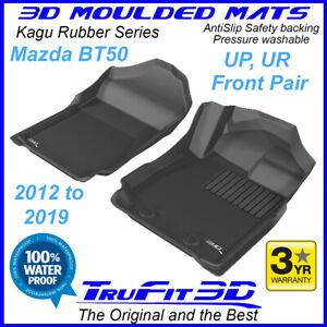Fits Mazda BT50 2012 - 2020 Genuine 3D Black rubber Front Car Floor Mats