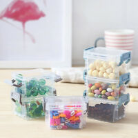 Small Plastic Clear Transparent Storage Collection Container Box Case BB
