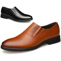 Men's New Geniune Leather Shoes Formal Dress Office Wedding Slip On Oxford Comfy