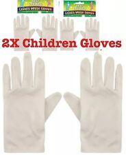 Child White Short Gloves Magician Gloves Kids Unisex Uk Lot 2x Gloves