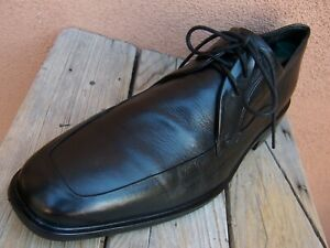 COLE HAAN Mens Dress Shoes Classic Soft Black Leather Lace Up Oxfords Size 11.5M