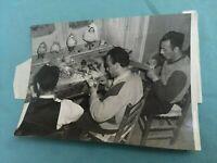 FOTO ORIGINALE IN B/N TORRE DEL GRECO LAVORAZIONE DEL CORALLO G. DONADIO 1948