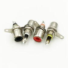 4pcs Amplifier Metal RCA Phono Chassis Panel Mount Female Socket Connectors