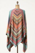 Anthropologie Cecilia Prado Dress Sweater Poncho One Size XS S M L 0 2 4 6 8 10