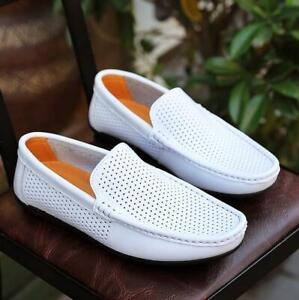 Men's Outdoor Moccasins Gommino Hollow Out Loafers Pumps Slip On Driving Shoes
