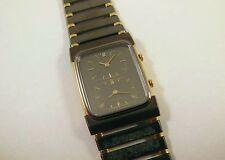 Lassale by Seiko Black & Gold Tone Metal 1E50-0280 Sample Watch NON-WORKING