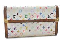 Louis Vuitton Monogram Multicolor Porte Tresor International Wallet White A9731