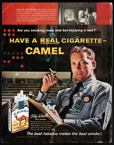 """Camel Cigarettes """"Have A Real Cigarette…Best Tobacco Best Smoke"""" Print Ad"""