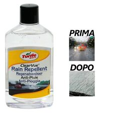 TURTLE WAX LIQUIDO IDROREPELLENTE PER VETRI PARABREZZA VISIERE ANTI ACQUA VIEW