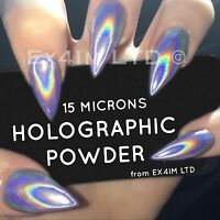 HOLOGRAPHIC POWDER 15 MICRONS UNICORN ULTRA FINE EFFECT CHROME NAILS PIGMENT UK
