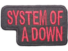 "SYSTEM OF A DOWN Red Logo Rock Metal Iron On Sew On Shirt Badge Patch 3.4""x2"""