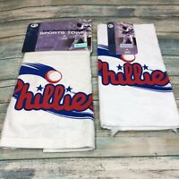 "Philadelphia Phillies 16'' x 25'' Towel Plus Hand 12""x19"" Towel SET McArthur NEW"
