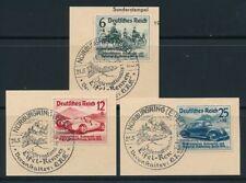 Echte Briefmarken aus dem deutschen Reich (1933-1945) mit Autorennen-Motiv