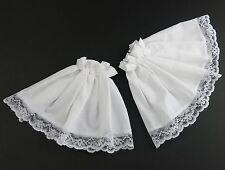 Lace Cuffs Victorian Edwardian Fancy Dress Steampunk Costume White Black or Lace