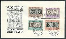 1962 VATICANO FDC RODIA ARCHEOLOGIA CRISTIANA NO TIMBRO DI ARRIVO - VT1-2