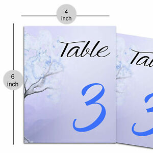 Paper Table Number Card for Restaurants and Cafes to Reserve Table Décor Wedding