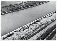 Die zerstörten Vorwerke des Forts Givet. Orig-Pressephoto um 1940