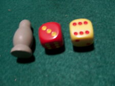 SETTLERS OF CATAN REPLACEMENT PIECES PARTS SET RED & YELLOW DICE, ROBBER