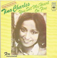 Tina Charles-you set my heart on Fire/Fire (instr.) (Vinile-Single 1975)!!!