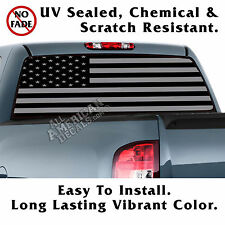 Tactical Flag (FF) BACK Window Graphic Perforated Film Decal Truck SUV