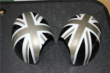 For MINI Cooper R55 R56 R57 R58 R60 Black Jack UK Side Wing Mirror Cover Caps