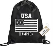 BACKPACK BAG HAMPTON USA GYM HANDBAG FLAG SPORT