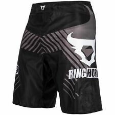 VENUM RINGHORNS CHARGER MMA FIGHT SHORTS - BLACK - VARIOUS SIZES