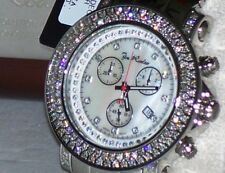 New Authentic Mens Joe Rodeo Junior chronograph 4.75 Ct.aprx.Diamond Watch jju7