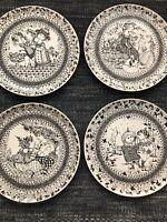 """Bjorn Wiinblad vintage Rosenthal 14"""" serving/wall plates depicting the seasons"""