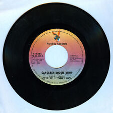 Philippines WILLIE HENDERSON Gangster Boogie Bump 45 rpm Record