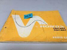 Honda CM125T CM185T CMT 125 185 liste catalogue pièce détachée